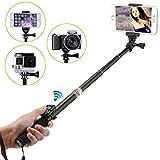 Maryger 4 - in - 1 Portable Palo Selfie Bluetooth para iPhone, Android, camara digital y impermeable camara de accion (black1)