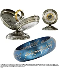 Lord Of The Rings - One Ring Stainless Steel- Blue US size 7