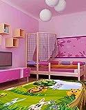 Oedim Kinderteppich Tiere PVC Dschungel 95 cm x 165 cm   PVC-Kinder-Esterillo   Vinylboden für Kinder   Dschungeltiere  