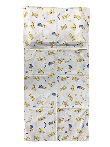 Sacco nanna asilo estivo - coniglietti coccole azzurro - 2-6 anni