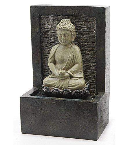 zeitzone Zimmerbrunnen Buddha Wasserfall mit Pumpe Feng Shui Entspannung Höhe 23 cm