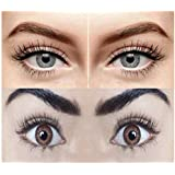 SOFT EYE Zero Power Monthly Colour Contact Lenses, Combo Pack of 2 Pairs (Grey and Brown) with Lens Solution and Lens Case/Container Kit