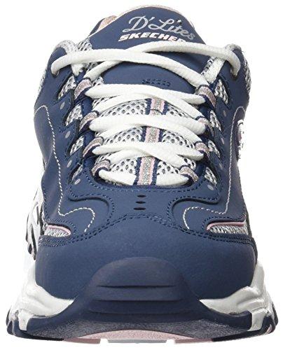 Skechers D'lites Life Saver, Sneakers Basses Femme Bleu (Nvw)