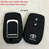 SFK Silicone key cover for Toyota Innova Crysta 2016 (For Push Button smart Key only)