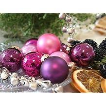 45 Kugeln Lila Violett Purpur Pink Christbaumschmuck Baumschmuck Weihnachten