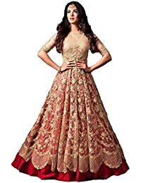 Style Amaze Women's Latest Beige & Red Embroidered Pant Style Bridal Wear Party Wear Wedding Collection Festival...