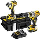 DeWalt DCK255P2-GB 18V XR Li-ion Brushless 3-Speed Combi Drill and Impact Driver (Twin Pack)