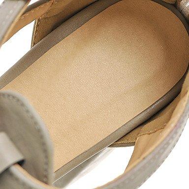 LvYuan Da donna-Sandali-Tempo libero Ufficio e lavoro Casual-Altro-Quadrato-PU (Poliuretano)-Nero Bianco Grigio Tessuto almond White