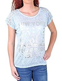 Madonna T-Shirt Damen JOSIANE New York Silber Print Shirt MF-741535