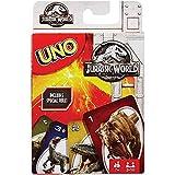 Mattel Games FLK66 UNO Jurassic World Kartenspiel für die Familie, geeignet für 2 - 10 Spieler, Spieldauer ca. 15 Minuten, ab 3 Jahren