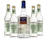 Martin Miller's Gin & Tonic Set - Martin Miller's Westbourne Strength Gin 0,7l (45,2% Vol) + 4x Fever-Tree Elderflower Tonic Water 0,5l -[Enthält Sulfite]