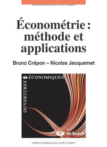 Econometrie: Méthode et Applications par Jacquemet Nicolas, Crépon Bruno