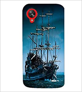 PrintDhaba Ship D-1910 Back Case Cover for LG GOOGLE NEXUS 5 (Multi-Coloured)