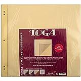 Toga AL20H2 Lot de 11 Pages de recharge pour Album de scrapbooking Papier Vanille 30,5 x 30,5 x 1 cm