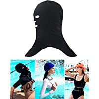 gzhouse Unisex adulto sol protección natación máscara anti medusas y Bug Biting Facekini máscara de buceo, negro