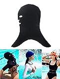 GZHOUSE Unisex Adult Sun Schutz Schwimmen Cap Maske Anti Jellyfish & Bug Beißen Facekini Tauchmaske (Schwarz)