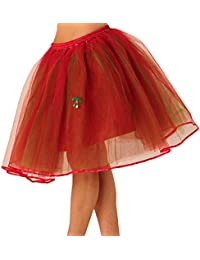 Red/Green Long Adult Tutu Skirt UP To 40 Inch Waist Lined With 5 Layers Men Women Girls
