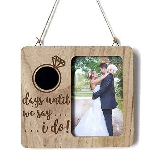 Holzschild, personalisierbar, handgefertigt, Mint grün Heart'Tafel, Countdown bis zur Hochzeit Holz Kalender (Tafel-hochzeits-countdown)