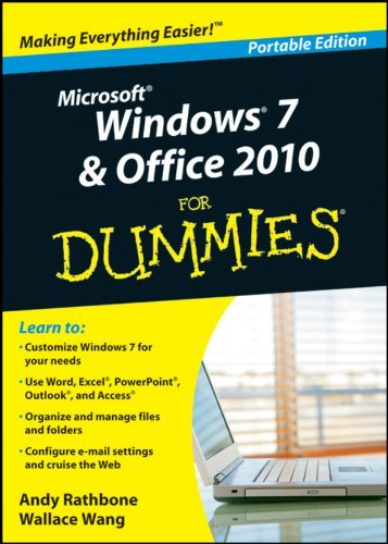 Portada del libro Microsoft Office 2010 for dummies book and dvd by Andy Rathbone & Wallace Wang (2011-08-05)