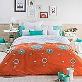 San Carlos Oriente - Juego funda nórdica, para cama de 105, color naranja