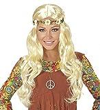 shoperama Flower Power Hippie Perruque Style Hippie avec Bandeau à Fleurs Blond Clair 60 Ans