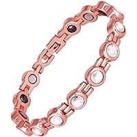 ProExl Magnetisches Damen-Armband aus massivem Kupfer, mit Hämatit, gegen Arthritis, Swarovski-Kristalle preisvergleich bei billige-tabletten.eu