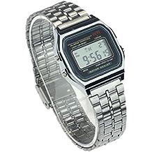 Reloj de pulsera, KanLin1986 CronóMetro De Alarma Digital De Acero Inoxidable ...