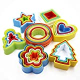#5: gloryelen Colorful Multi-Shape Plastic Mold Cookie Biscuit Cutter Mould Pastry Maker Tools