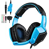 Stereo Gaming Headphone Headset, PS4 Headset, Xbox 360 headset, SADES SA-920 with Microphone for PlayStation4 PS4 Xbox One Xbox 360 PC Computer with noise isolating headphones & Volume Control (Blue)