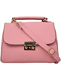 Busta Pink Color Faux Leather Sling Bag For Women / Ladies / Girl