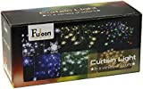 Fuloon 2M x 1M 104 Led 8 Modes Snowflake Style Indoor / Outdoor Party String Fairy Wedding Curtain Light Christmas Decoration New Year Decoration (White)