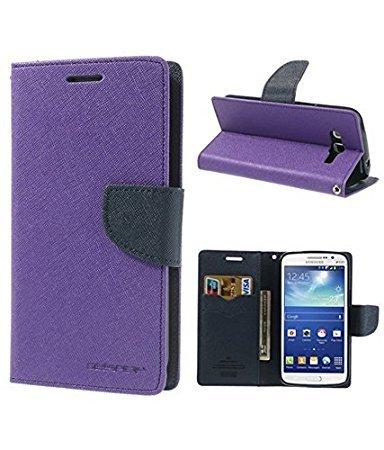 CEDO Stylish Luxury Mercury Magnetic Lock Diary Wallet Style Flip Cover Case for Lenovo Vibe K5 and Lenovo Vibe K5 Plus + (Purple)