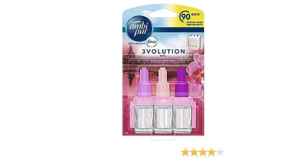 Ambi Pur 6er Pack 3volution Nachfüllung Elektrische Lufterfrischer Thai Orchidee 20 Ml Drogerie Körperpflege