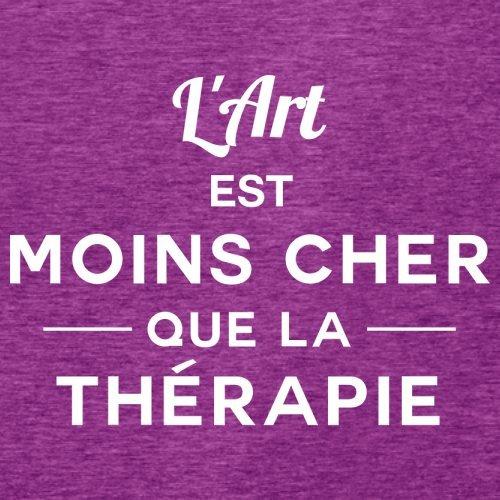 L'art est moins cher que la thérapie - Femme T-Shirt - 14 couleur Rose Antique