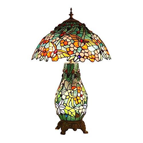 Bieye L30562 27 pouces Papillon Lampe de table en verre teinté de Tiffany style