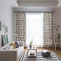 yunt 2unidades cortina Ventana Set, 70% transparente con un diseño moderno cortinas Salón con cinta fruncidora Schön accesorios accesorios decoración, 100x 280cm gris