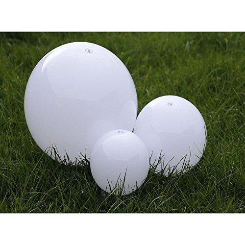 Solarleuchten-Set Kugeln zum Stecken Garten Outdoor 1 x 15cm/1 x 20cm/30 cm Größen