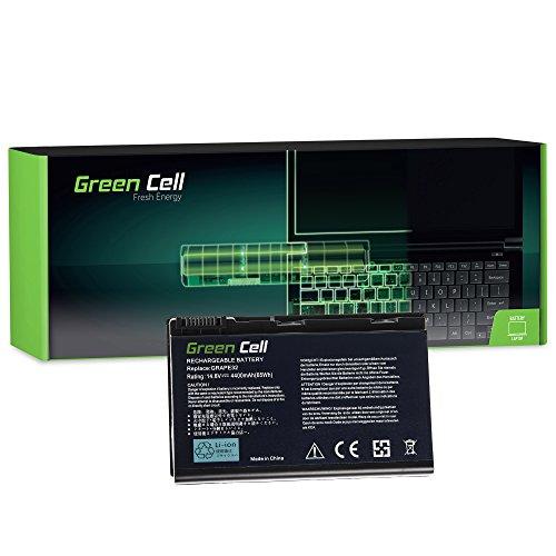 Green Cell® Standard Serie GRAPE32 Batería para Acer Extensa 5100 5210 5220 5230 5230E 5320 5420 5610 5620 5620G 5620Z 5630 5630EZ 5630G 5630Z 7220 7620 Ordenador (8 Celdas 4400mAh 14.8V Negro)