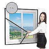 Ruber Fliegengitter Für Fenster Schwarz, Fensternetz Insektenschutz Ohne Bohren, Mückenschutz Moskitonetz Für Dachfenster, UV-Beständig Klettverschluss Selbstklebend,70x90cm(28x35inch)