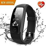 Fitness socken, Runme Fitness Tracker mit Herzfrequenz und Schlafmonitor, Aktivitätstracker mit Schritt und Kalorienzähler, GPS Tracker, IP67 Wasserdichtes Sportband für Android/IOS Smartphone