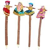 Rajkruti Wooden handicraft antique 4 pc ...