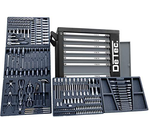 5 Schubladen Werkzeugwagen (XXL Special Edition Werkstattwagen Werkzeugwagen grau - 5 von 7 Schubladen gefüllt mit Werkzeug - rollbar)
