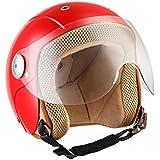 SOXON SK-55 Kids Red · Mofa Casque Jet pour Enfant Vintage Retro Bobber Demi-Jet Cruiser Scooter Moto Vespa Biker Kids Pilot Chopper Helmet · ✔ ECE certifiés ✔ y compris le pare-soleil ✔ y compris le sac de casque ✔ Rouge · S (53-54cm)