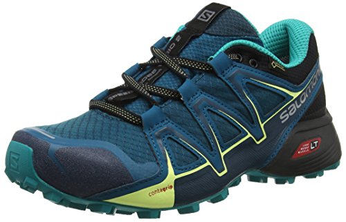 Salomon Speedcross Vario 2 GTX, Scarpe da Trail Running Impermeabili Donna, Blu (Deep Lagoon/Black/Tropical Green), 40 2/3 EU