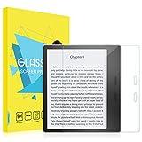 MoKo Film de Protection Compatible avec Nouveau Kindle Oasis (9ème et 10ème génération Uniquement) modèle 2017, en Verre Trempé de Dureté 9H avec Un Revêtement Oléophobique