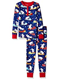 Hatley Waffle Henley, Conjuntos de Pijama para Niños