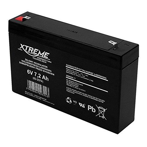 Xtreme Blei-Akku Gel Battery Lead Acid Battery Batterie Akku (6V 7,2Ah)