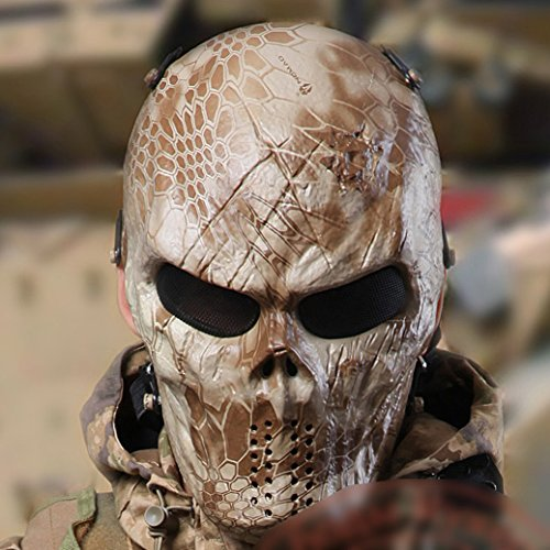 Metall-Netz-Augen Maske Schutz für BB Airsoft Maske Hockey Cosplay M06 Nomad Kryptek