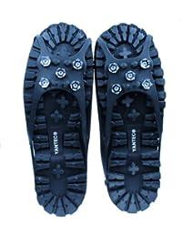 Yantec® Spikes für Schuhe, schwarz (5 Krallen Spikes) Größe L (ca.39-42) in verbesserter Qualität
