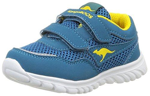 Seite Schnalle Sandale (KangaROOS Inlite 3003B, Baby Jungen Lauflernschuhe, Blau (blue/acid yellow 417), 24 EU)